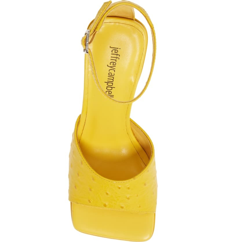 Jeffrey Campbell Skylar-2 Yellow Sandal