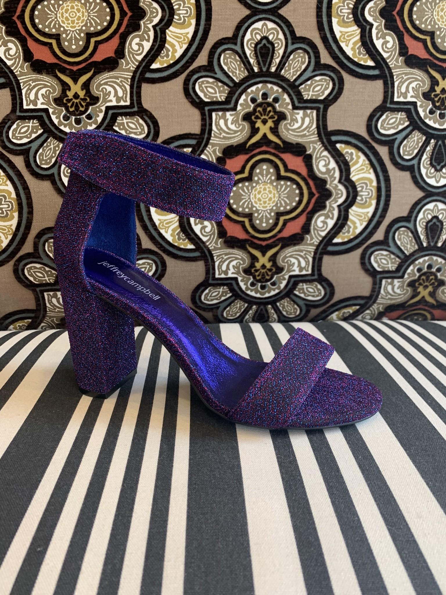 Jeffrey Campbell Lindsay Blue Purple Fabric Heel