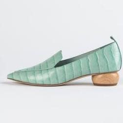 Jeffrey Campbell Viona Mint Pointed Toe Loafer