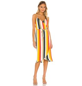 Cupcakes and Cashmere Stella Striped Wrap Dress