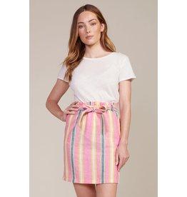 BB Dakota Ocean Spray Striped Skirt