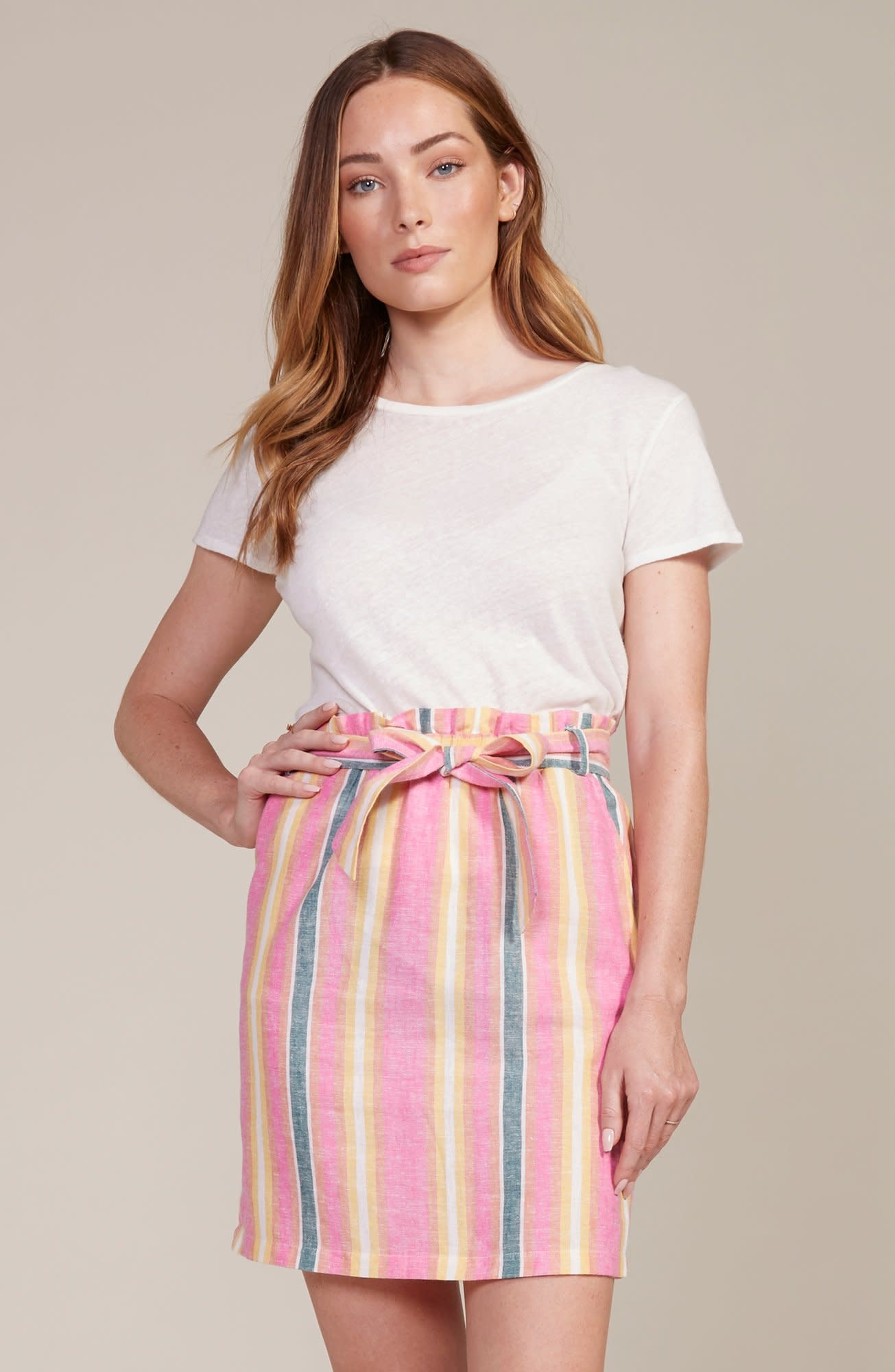 BB Dakota Ocean Spray Striped Skirt