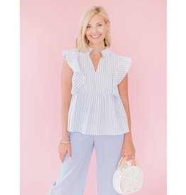 La Roque Brooks Top Candy Blue Stripe