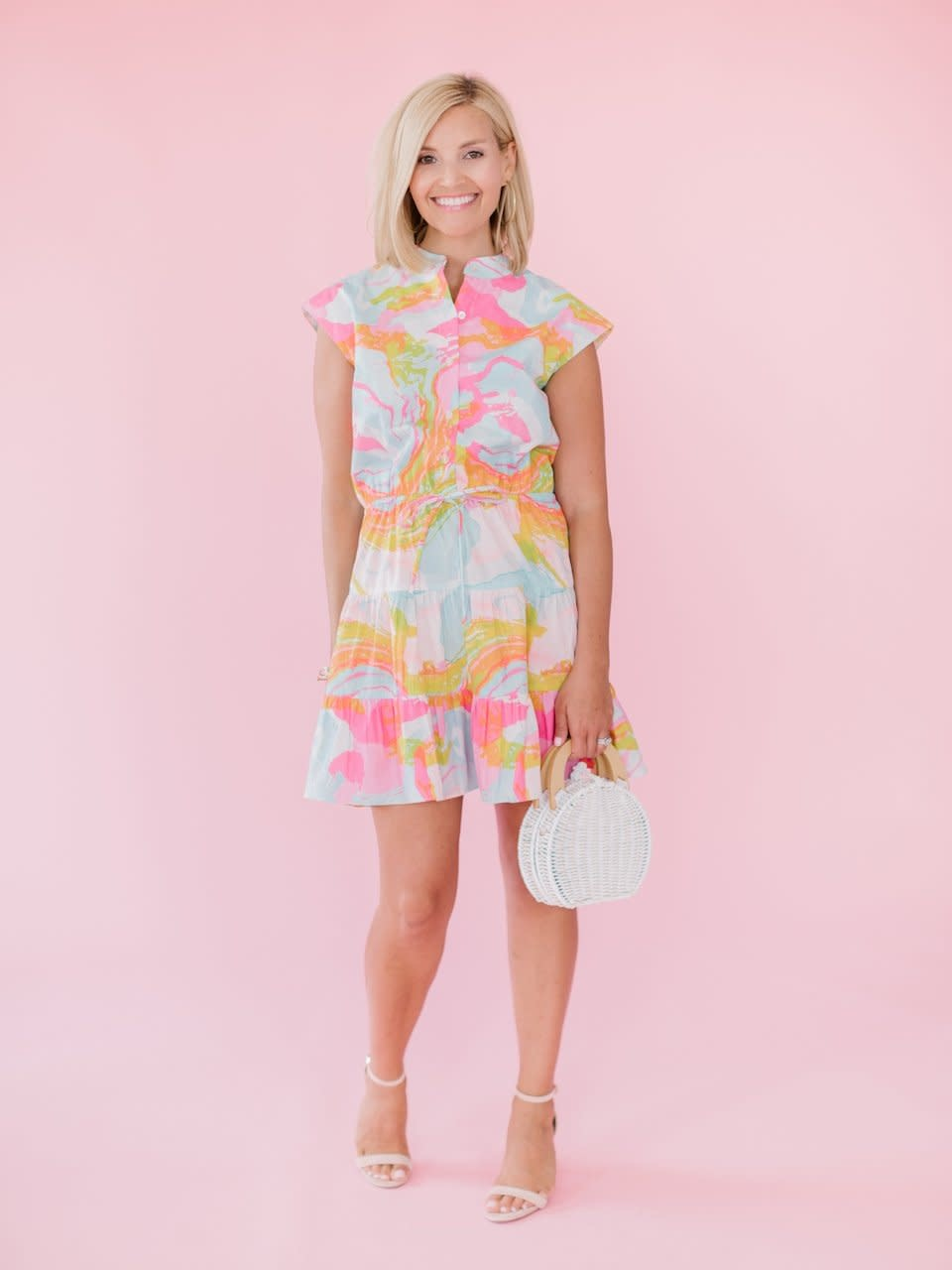 La Roque Chelsea Whimsical Watercolor Dress
