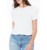 Project Social T Arden Puff Sleeve White