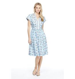 Gal Meets Glam Cecily Smocked Floral Dress