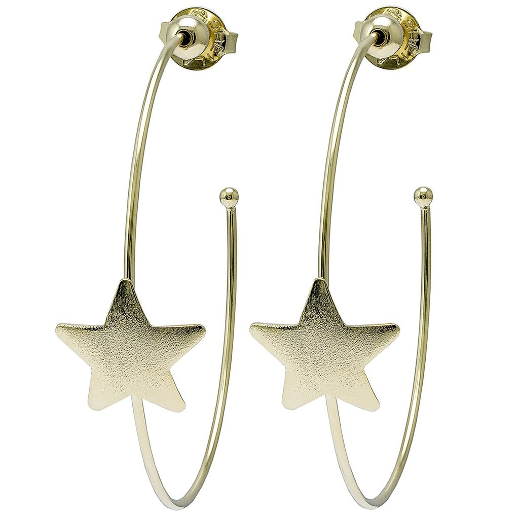 Sheila Fajl Ursa Single Star Hoops Gold
