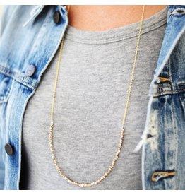 Mixed Metal Long Layering Necklace