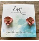 Erin Mcdermott Jewelry Spanish Flower Studs Pink