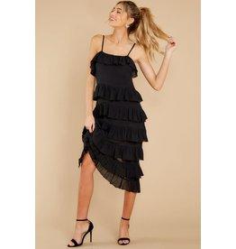 MINKPINK Verity Strappy Frill Black Dress