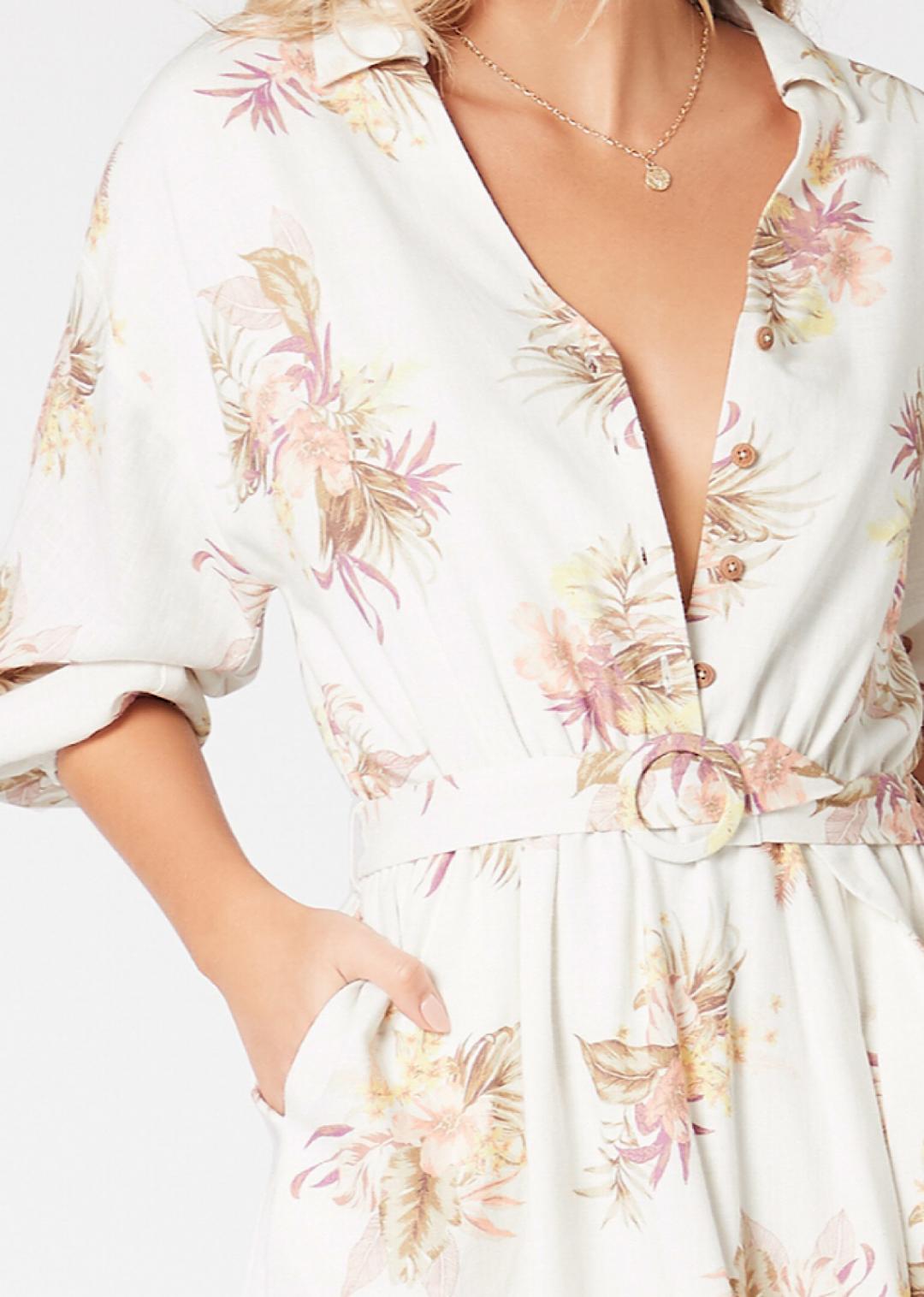 MINKPINK Tropic Dreaming Shirt Dress