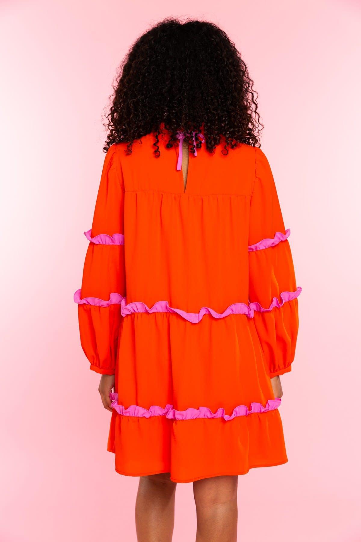 Crosby By Mollie Burch Darby Dress in Fiery Red