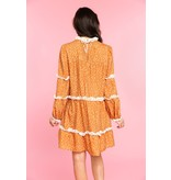 Crosby By Mollie Burch Darby Dress in Speckle Cognac