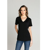 s'edge Paris V-Neck Tee Black
