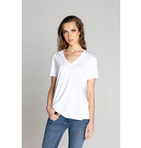 S'edge Apparel Paris V-Neck Tee White