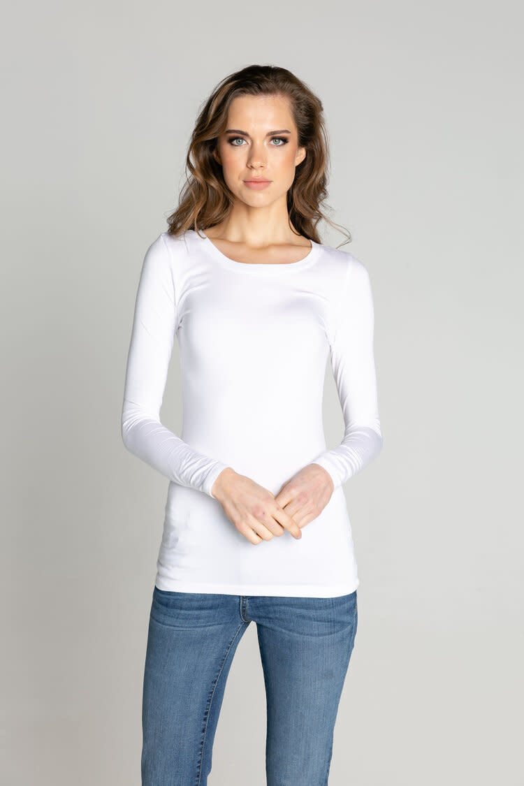 S'edge Apparel Florence Crew Neck Tee White