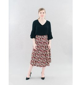 La Roque Martha Midi Skirt in Fancy Floral