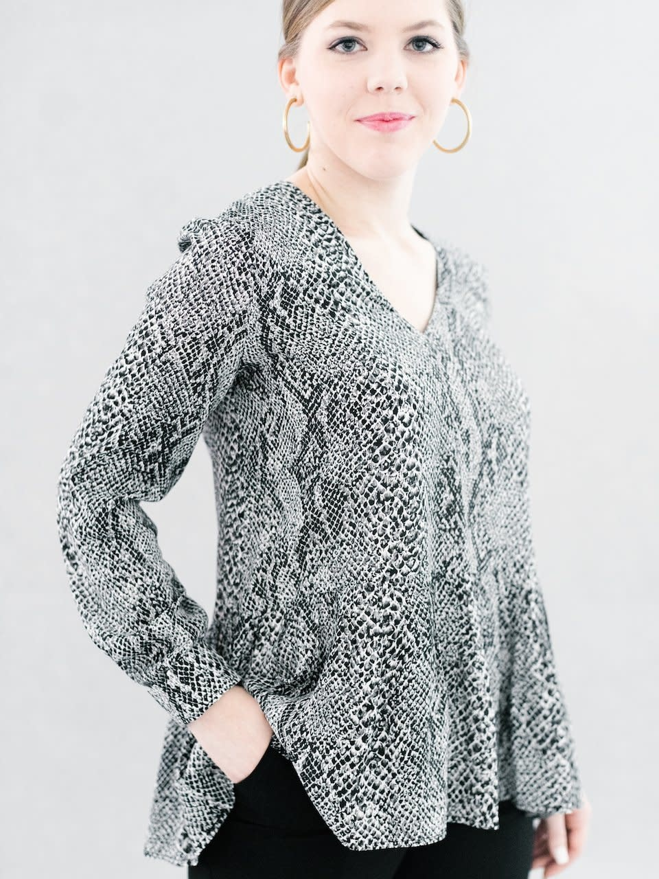 La Roque Tanner Tunic in Pewter Python