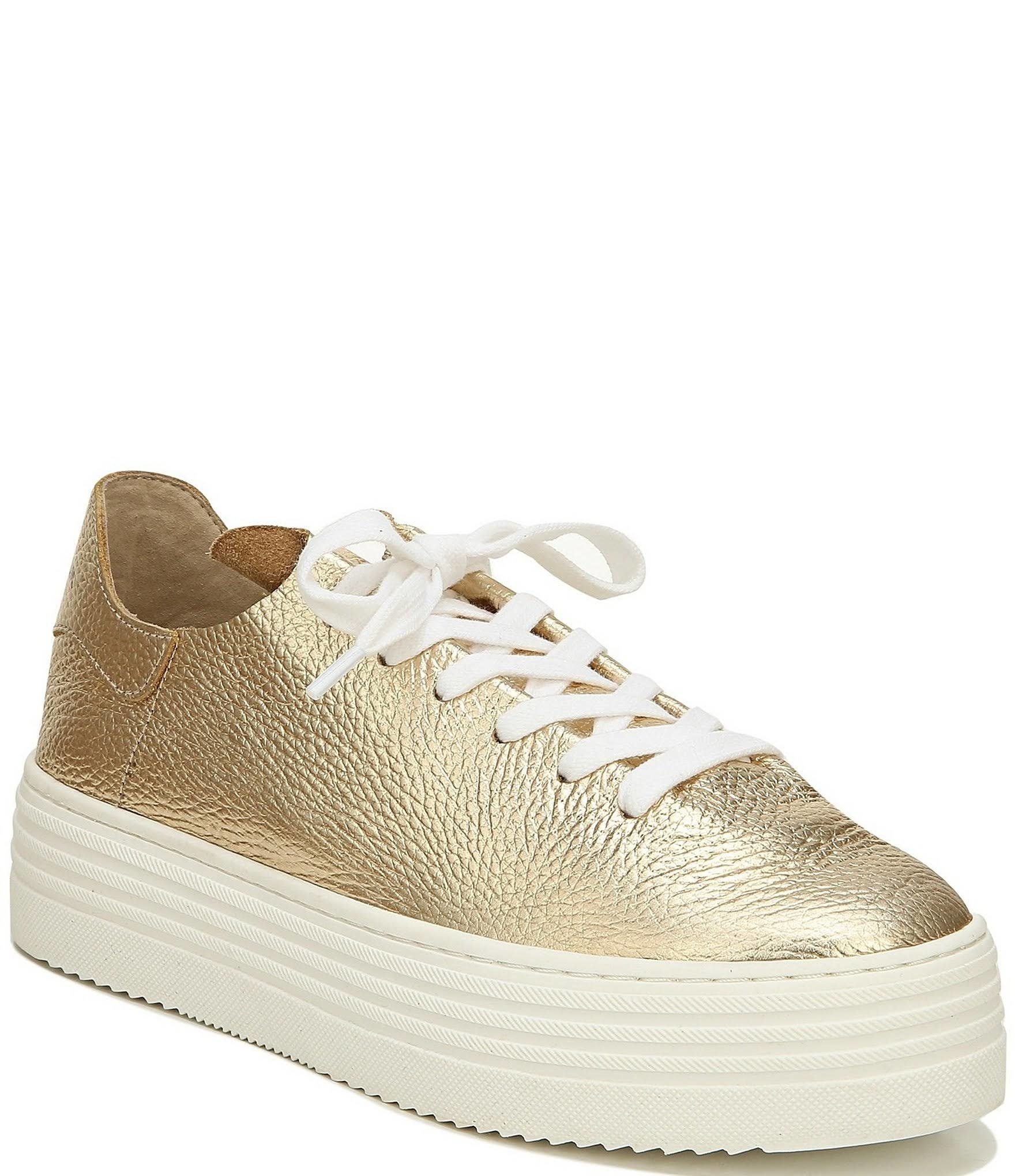 Pippy Tumbled Gold Sneaker - The Shoe Attic