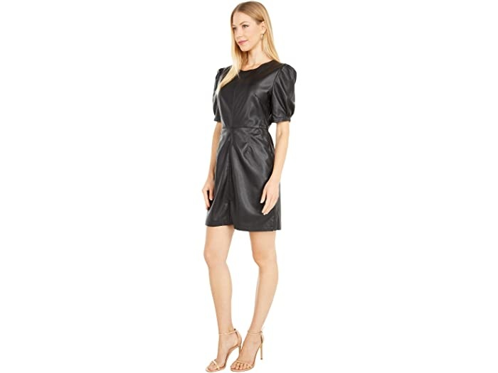 Cupcakes and Cashmere Maggie Faux Leather Dress