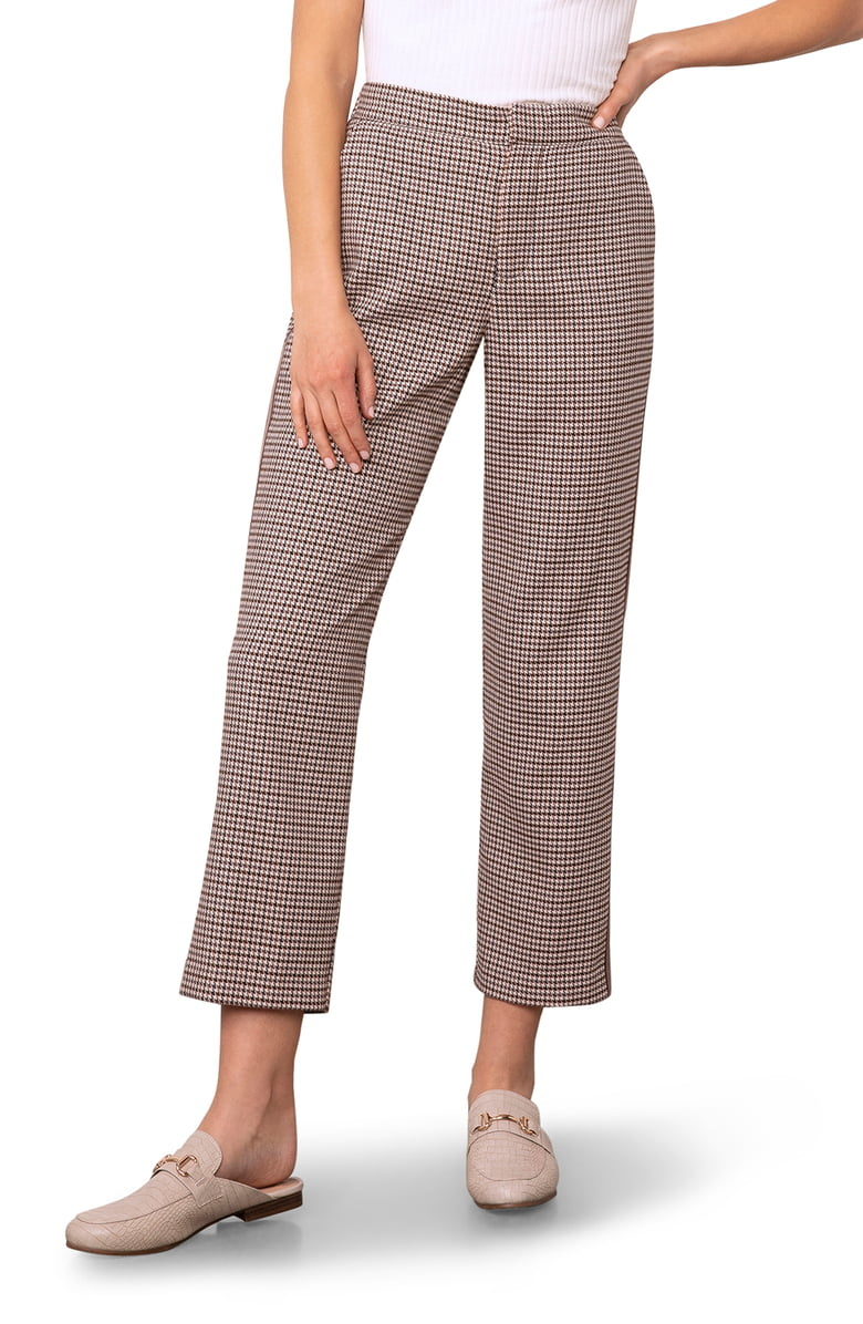 BB Dakota Checking In Walnut Plaid Pants