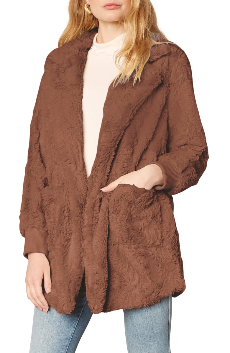 Jack by BB Dakota Swirl Next Door Brown Fur Jacket