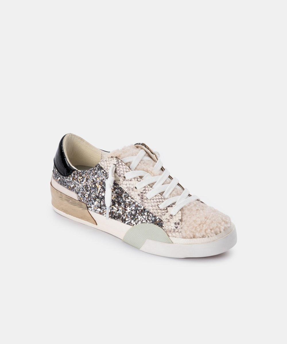 Dolce Vita Zina Plush Silver Glitter