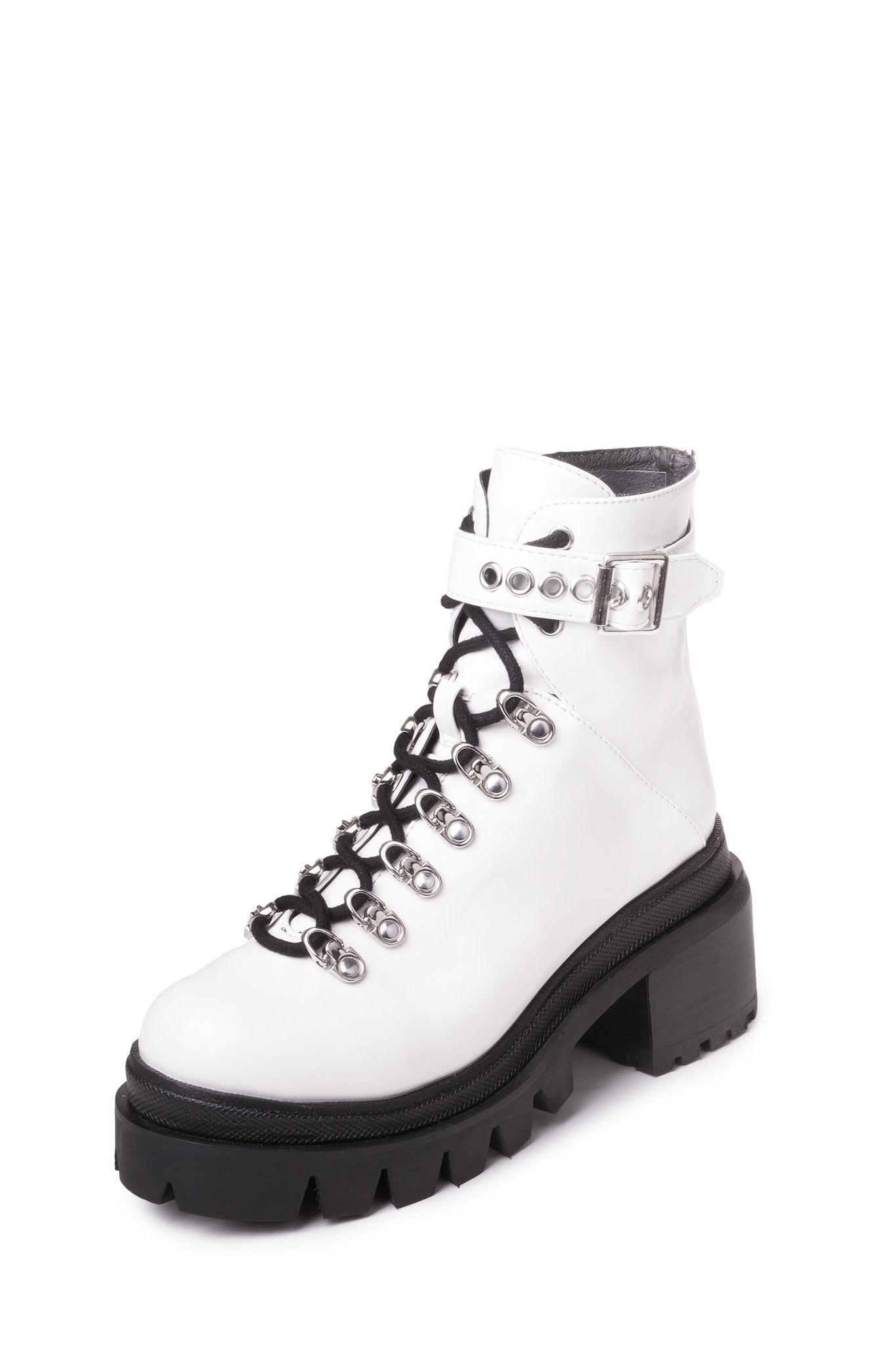 Jeffrey Campbell Czech White Matte Boot
