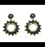 Allie Beads Emerald Star Burst Earrings
