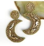 Allie Beads Gold Moon Earrings