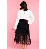 Crosby By Mollie Burch Tilly Skirt Black Polka Dot