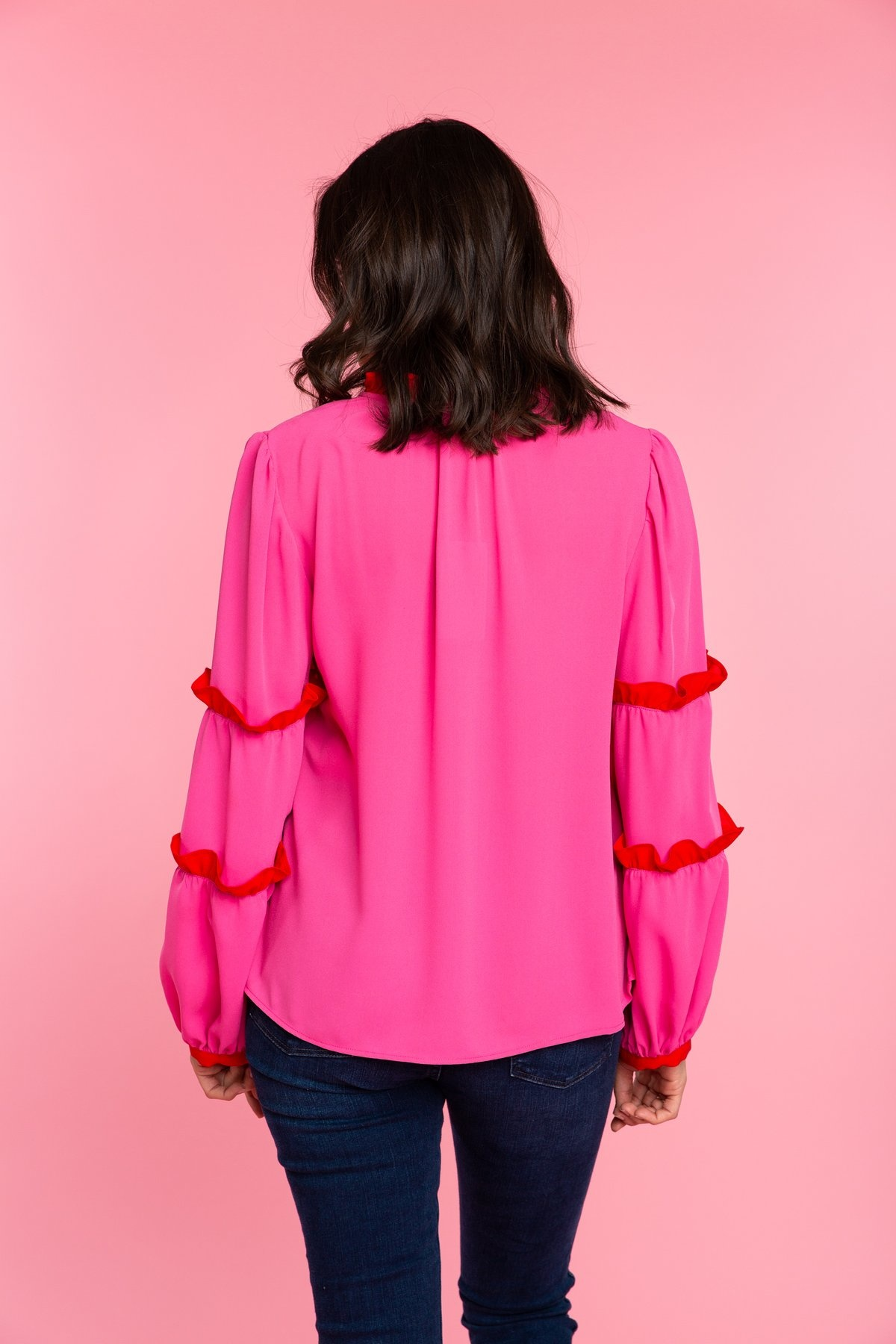 Crosby By Mollie Burch Rhodes Blouse Candy Pink