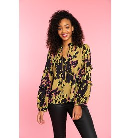 Crosby By Mollie Burch Rhodes Blouse Electric Hide