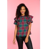 Crosby By Mollie Burch Emory Top Pop of Plaid