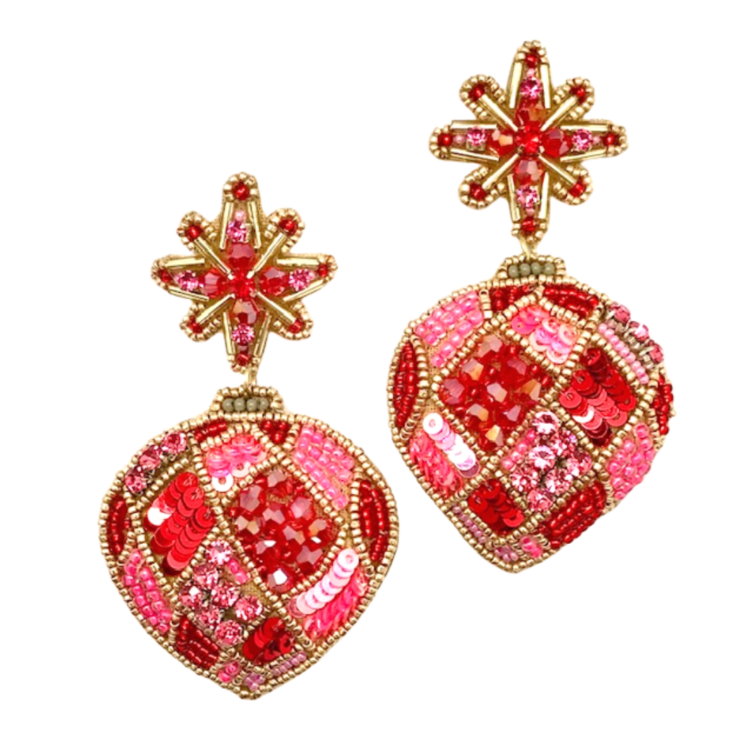 Allie Beads Holiday Ornament Earrings