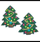 Allie Beads Christmas Tree Earrings