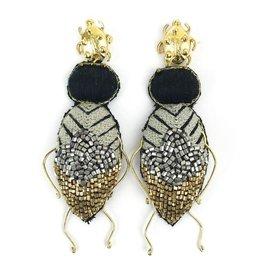 Allie Beads Beetle Earrings