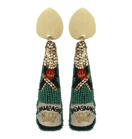 Allie Beads Champagne Earrings