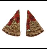Allie Beads Pizza Earrings