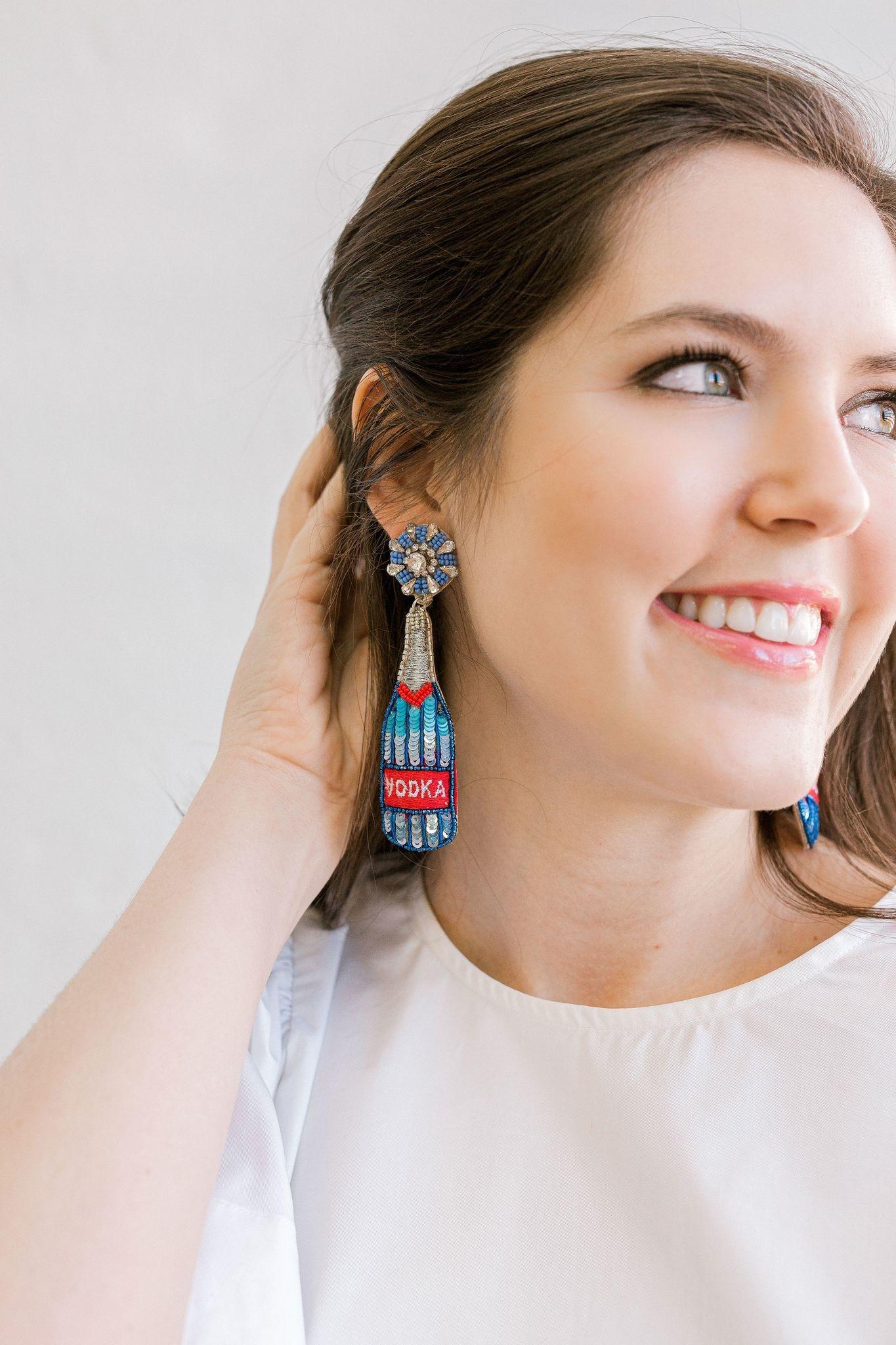 Allie Beads Vodka Bottle Earrings