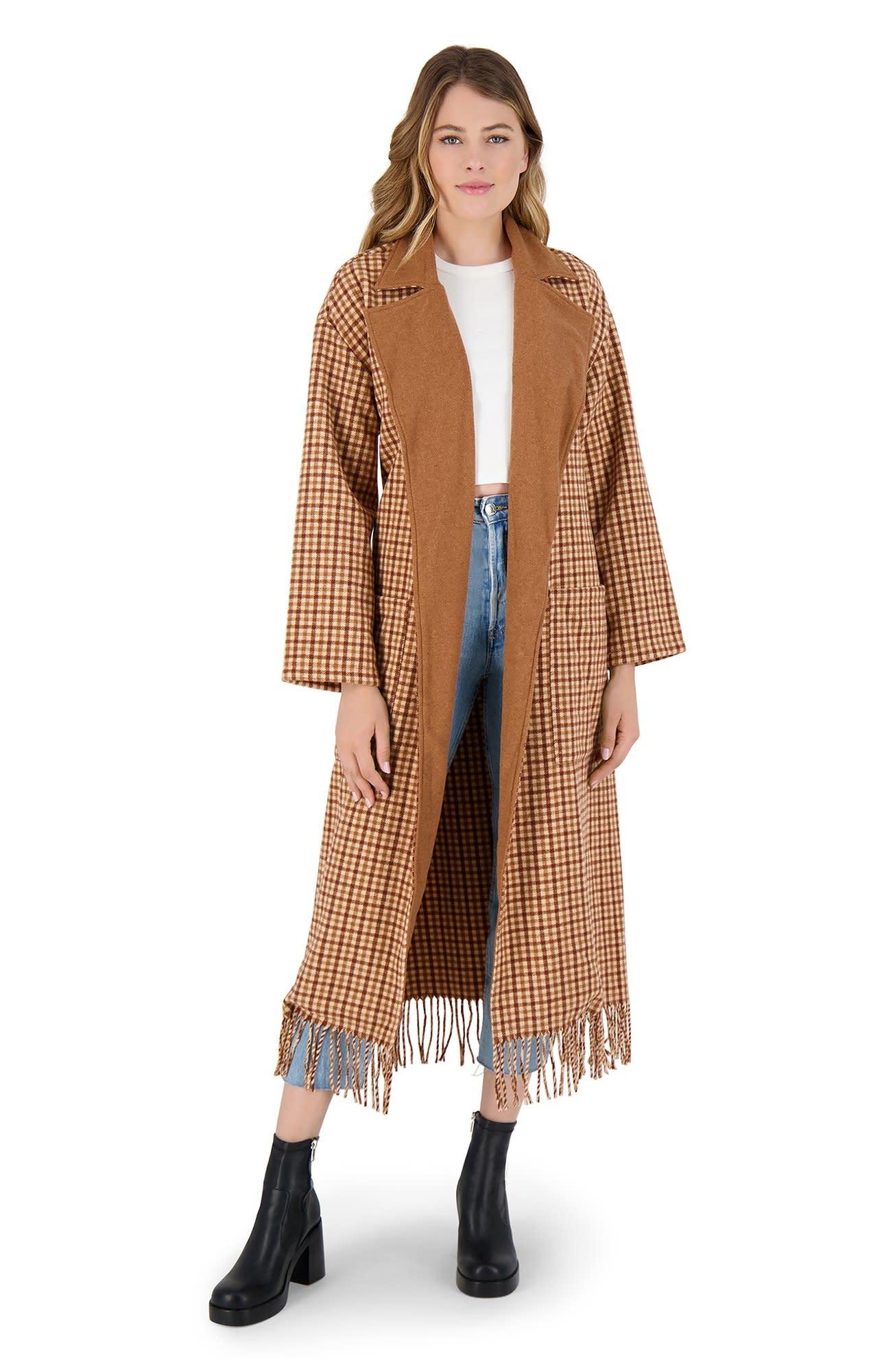 BB Dakota That Covers It Plaid Coat