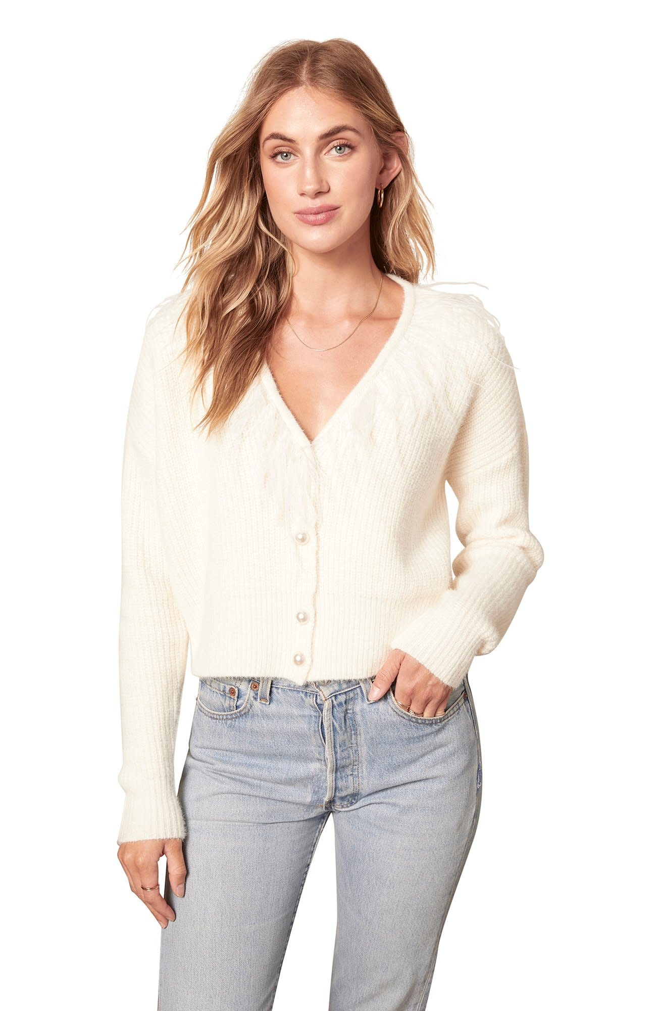 BB Dakota Keep it Frill Cardigan