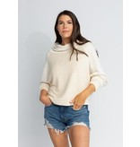 s'edge Liv Cowl Neck Sweatshirt Cream