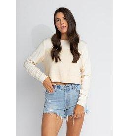 s'edge Rhodes Cropped Sweatshirt Cream