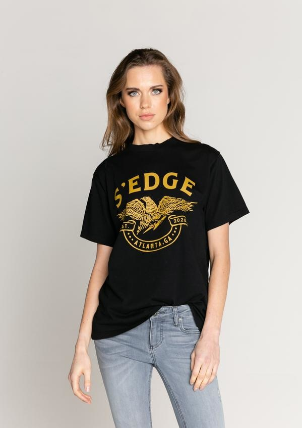 S'edge Apparel Austin Boyfriend Eagle Graphic Tee