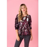 Crosby By Mollie Burch Lurie Top Chromatic Sequin