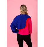 Crosby By Mollie Burch Miller Sweater Pink/Blue Colorblock