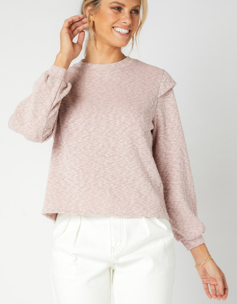 MINKPINK Austyn Sweater in Dusty Pink