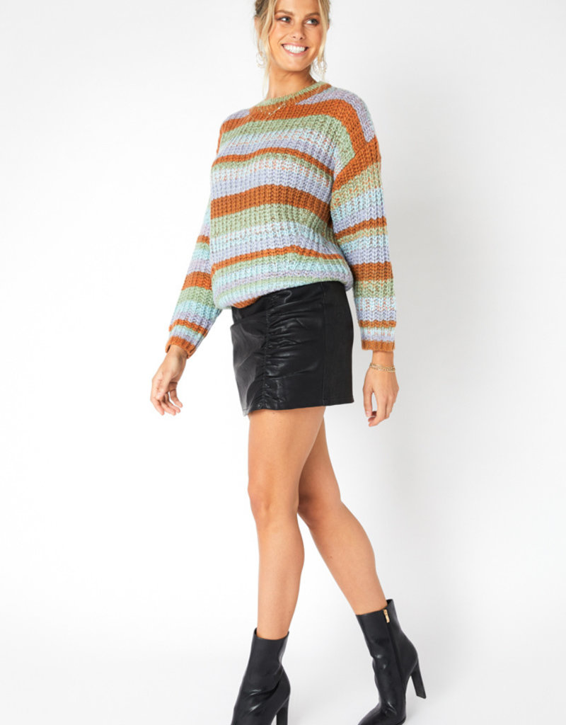 MINKPINK Carol Stripe Knit Jumper
