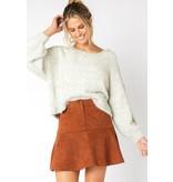 MINKPINK Alberta Faux Suede Mini Skirt